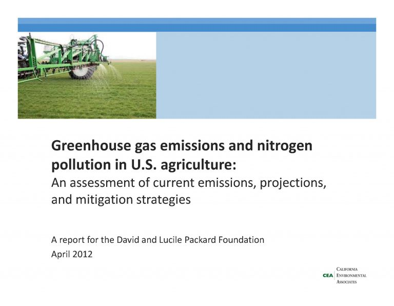 CEA agricultural GHG and N report 2012_public