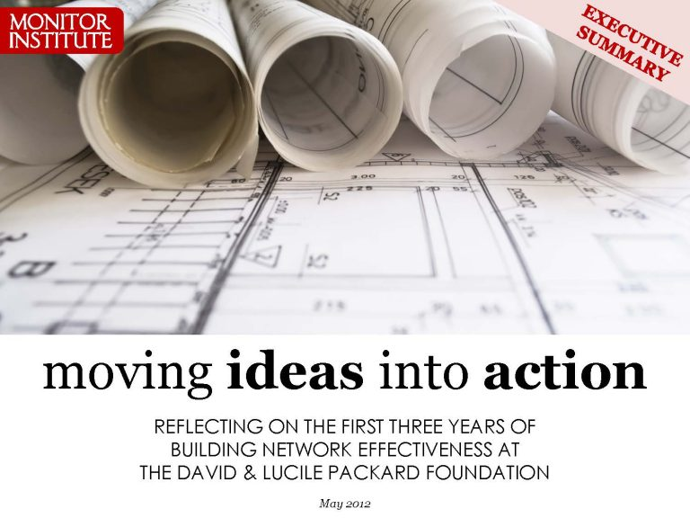 Moving Ideas into Action (executive summary)