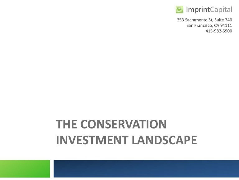 Multifunder Conservation Investment Meeting Sharable Presentation