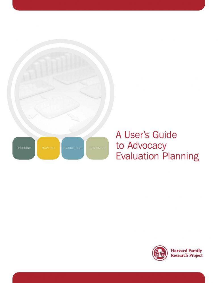UserGuideAdvocacyEvaluationPlanning