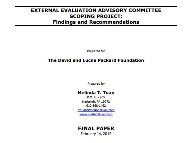 external-evaluation