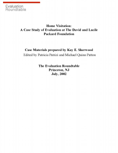 Home Visitation: A Case Study of Evaluation at the David and Lucile