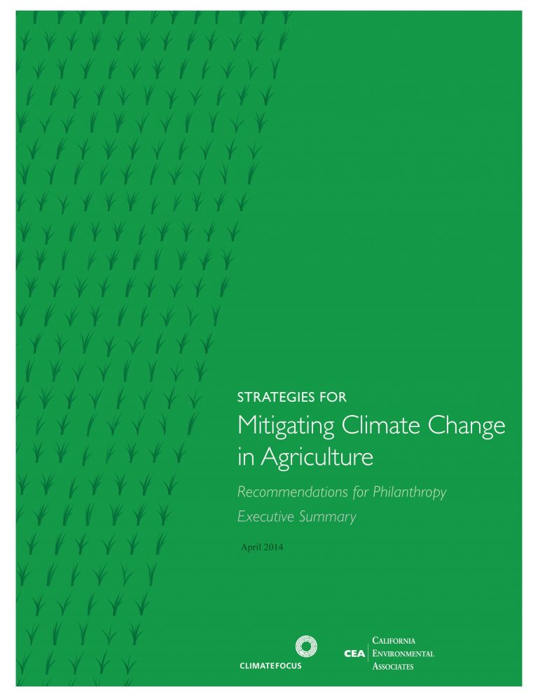 Mitigating Climate Change in Agriculture