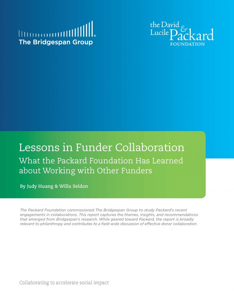 Lessons in Funder Collaboration_Cover