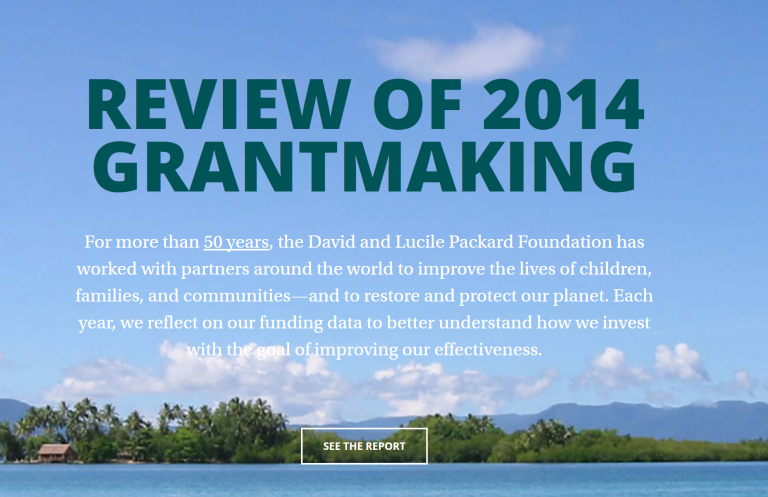 Review of 2014 Grantmaking